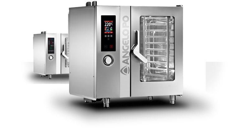Forno combinato professionale combistar fx elettrico o gas - Forno elettrico e microonde combinato da incasso ...
