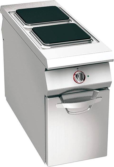 Cucina 2 piastre elettriche su vano professionale 04wpe4v - Piastre per cucinare elettriche ...