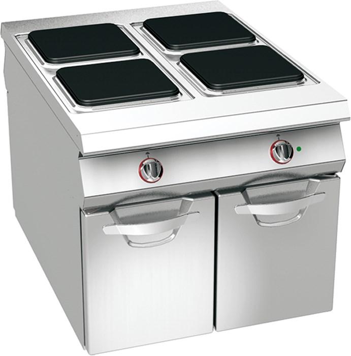 Cucina 4 piastre elettriche su vano professionale 08wpe4v - Piastre per cucinare elettriche ...