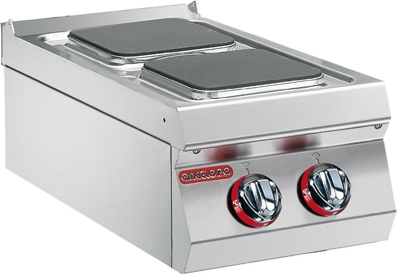 Cucina 2 piastre elettriche quadrate professionale 0g0pe2 - Piastre elettriche a induzione ...
