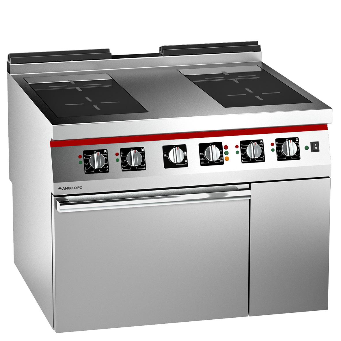 Cucina Con Piano Cottura Elettrico Cucina Vetroceramica A Induzione 4 Zone Con  Forno