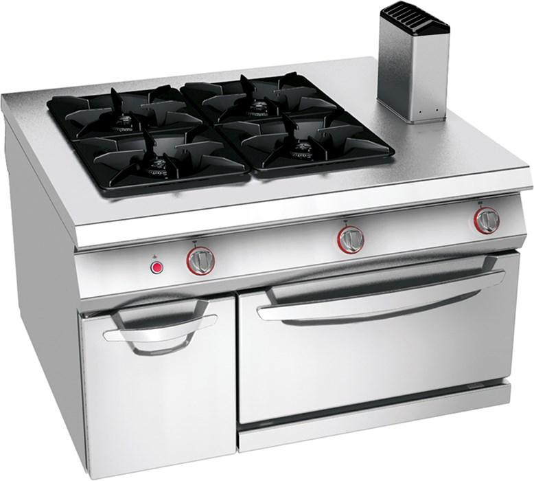 Cocina de gas 4 fuegos sobre horno est tico de gas y vano for Cocina 4 fuegos gas