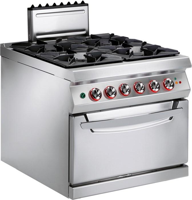 cucina gas 4 fuochi con forno elettrico ventilato