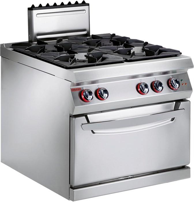 Cucina gas 4 fuochi con forno elettrico statico - 191fae