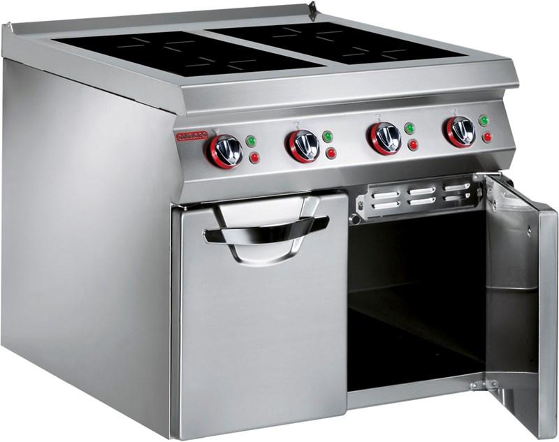 cucina vetroceramica induzione 4x5 kw professionale - 191vt1i - Induzione Cucina