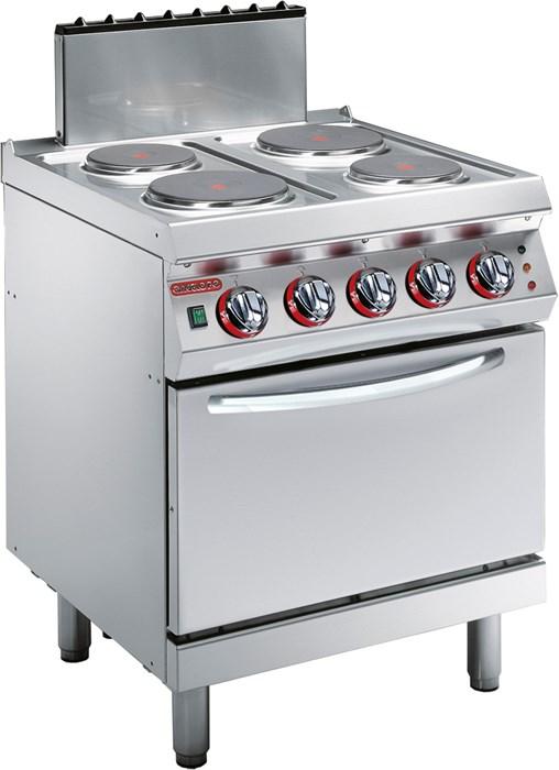 Cucina 4 piastre elettriche rotonde su forno elettrico - Cucina con piastre e forno elettrico ...