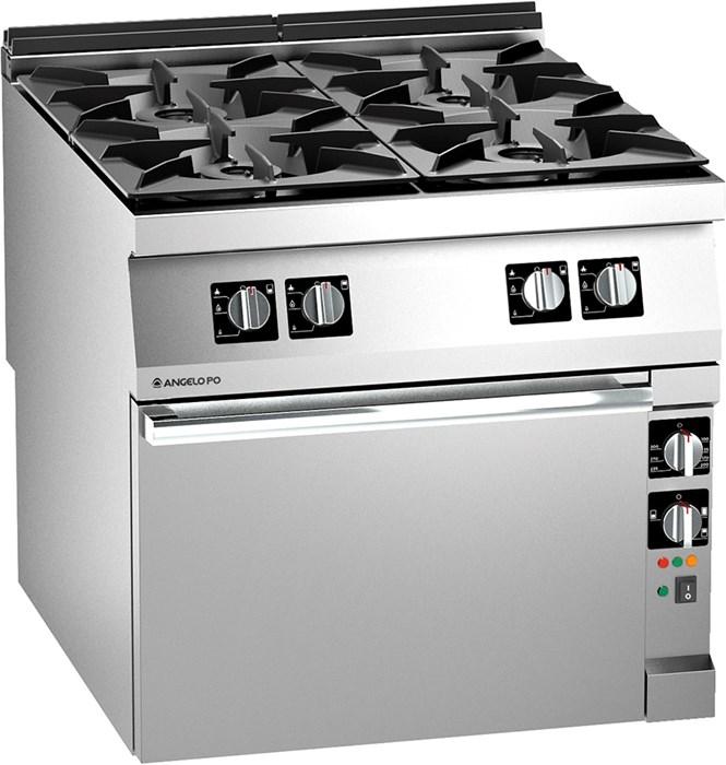 Cucina gas 4 fuochi con forno elettrico pluri ventilato 1n1faaev - Cucine con forno elettrico ventilato ...