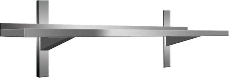 Mensola a parete in acciaio inox aisi304, 80 cm - arp804