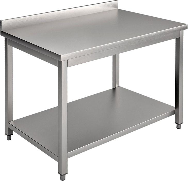 Tavolo con piano e alzatina 130 cm professionale e13ta - Mesa de trabajo cocina ...