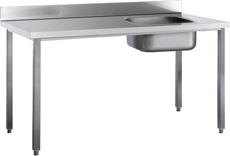 Tavolo con piano e alzatina vasca destra 160 cm e16tavd for Tavolo 40x40