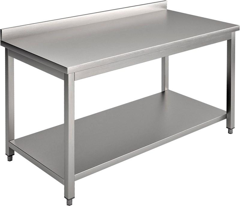 Tavolo con piano e alzatina 180 cm professionale e18ta for Tavolo 40x40
