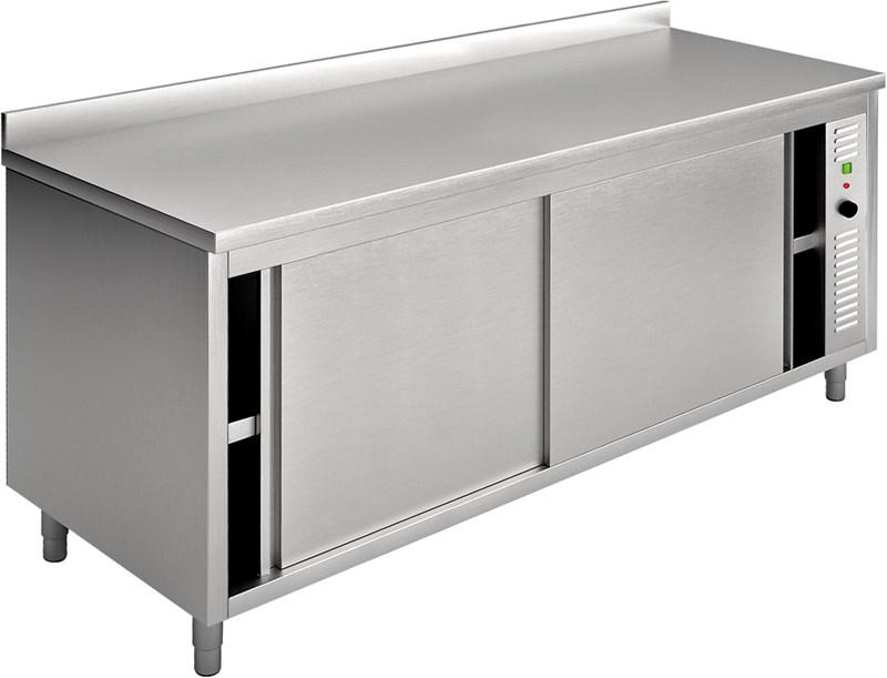Tavolo armadio caldo con alzatina 160x70 cm professionale ...