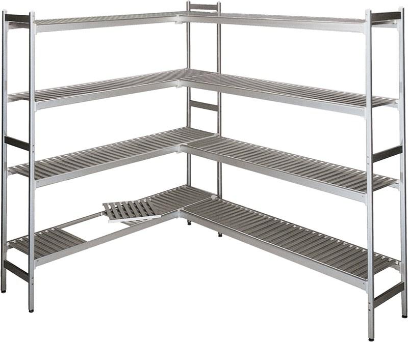 Scaffalatura cella frigo 2 lati 163x163 cm professionale for Planos de cocina industrial autocad