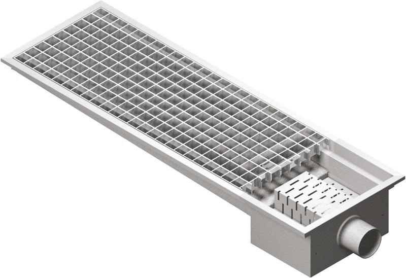 Grate floor drain 30x100, horiz. outlet professional - vlo30100