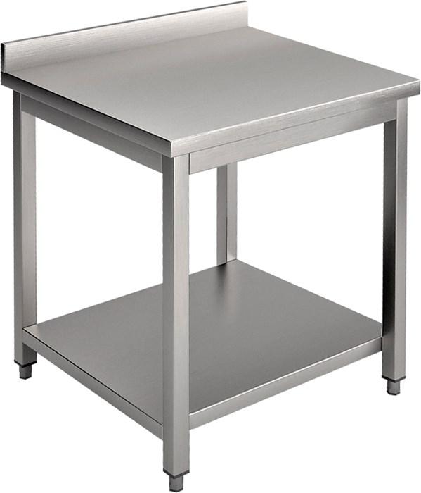 Tavolo con piano e alzatina 70 cm professionale - e07ta