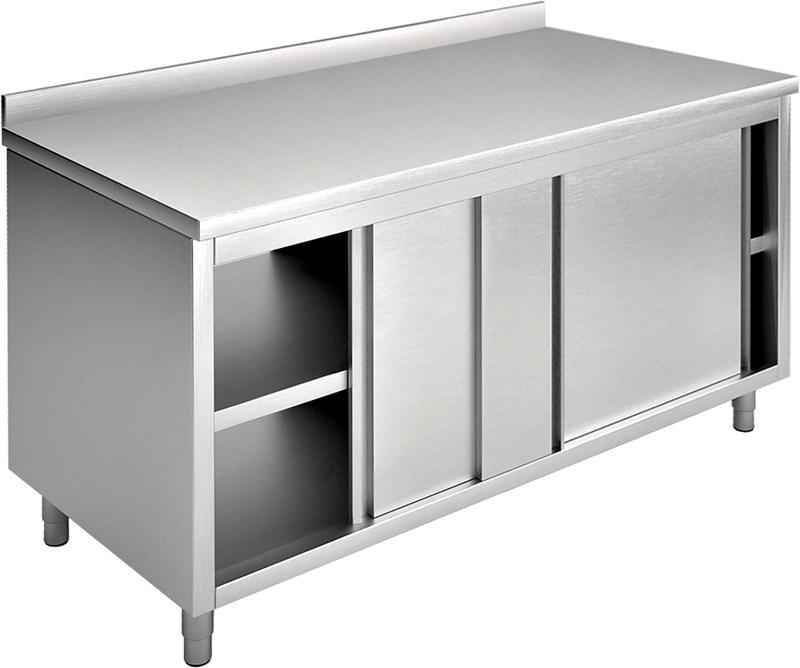 Tavolo armadio con porte scorrevoli, con alzatina - ea10a1