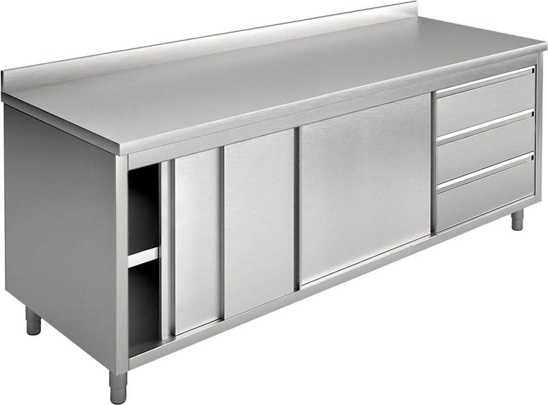 Tavolo armadio con porte scorrevoli e cassetti, con - ea20ac3d